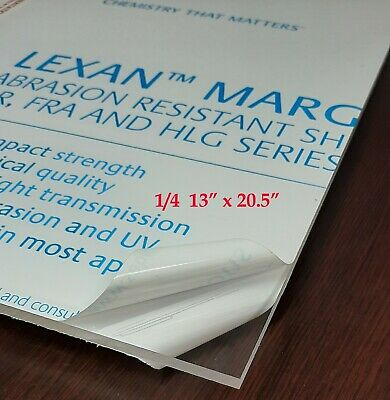 Lexan Margardpolycarbonate Sheet Clear14 13x 20.5 In