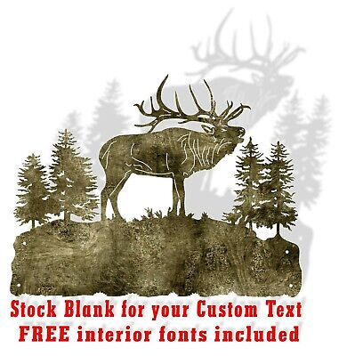 Dxf Cnc Plasma Laser Cut Ready Vector Elk High Country Stock Bonus Dxf Free Font