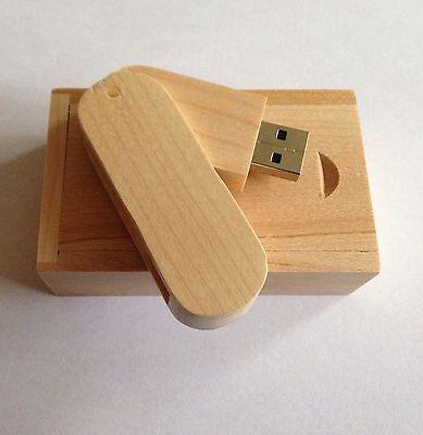 wooden USB2.0 Memory Flash Stick 15GB, Comes With Own Storage Box Setu