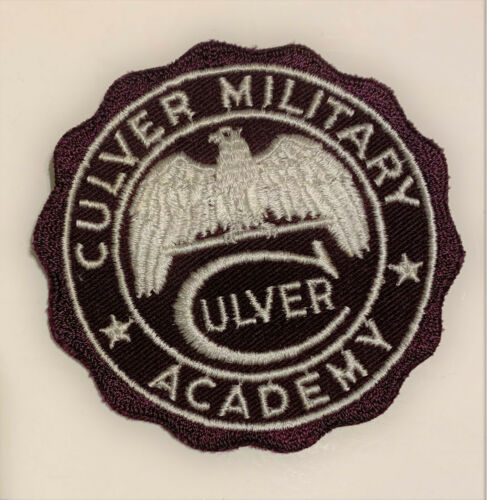 Vintage Culver Military Academy Patch 1960s Indiana