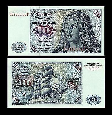 * * * 10 Deutsche Mark Geldschein 1980 Alte deutsche Währung * * *