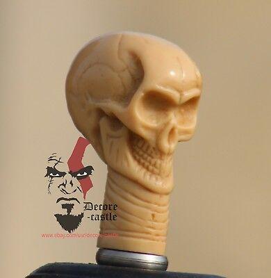 Bone Skull Head Handle Designer For Walking Cane Vintage Stick