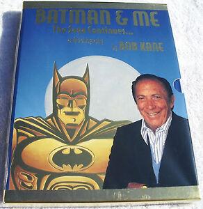 Batman-Me-Ltd-Gold-Slipcase-Ed-Hardcover-Rare-HC-Signed-w-COA-by-Bob-Kane