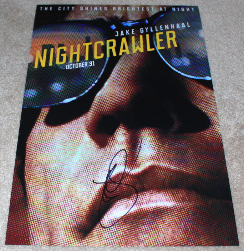 JAKE GYLLENHAAL SIGNED AUTHENTIC 'NIGHTCRAWLER' 12X18 MOVIE POSTER PHOTO w/COA