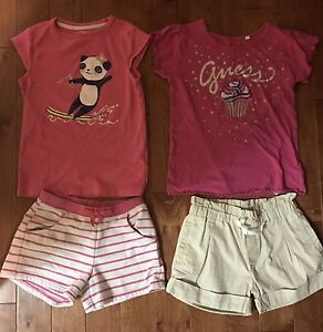 9 piece Gymboree Guess summer clothes girl size 7