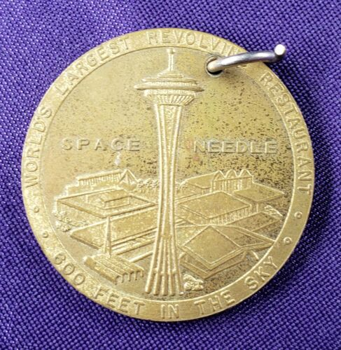 1962 Seattle WA Space Needle Official Medal World's Fair Century 21 Exposition