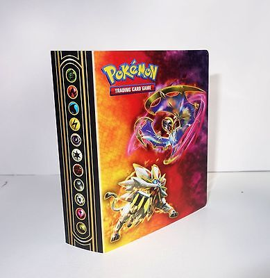 2017 Collector's Chest Mini Pokemon Album Binder Holds 30 cards- Lunala Solgaleo
