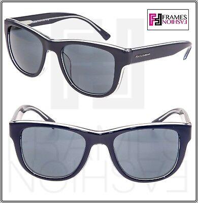 DOLCE & GABBANA BOND STREET 4284 Square Black Crystal DG4284F Sunglasses Men