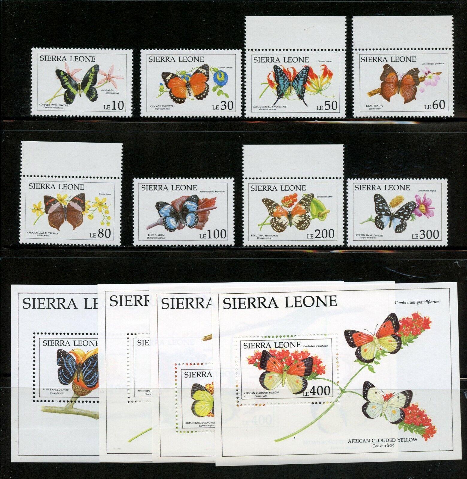 Q957  Sierra Leone 1991  butterflies  set & sheets   MNH