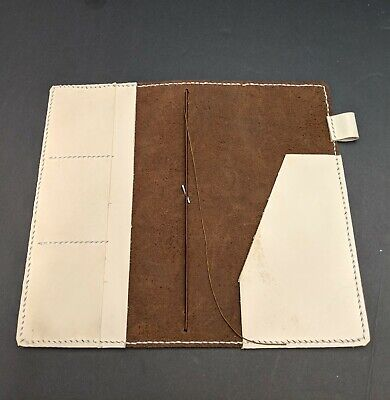 Regular Size Asian Vintage Travelers Notebook With Pockets Handmade Real Leather