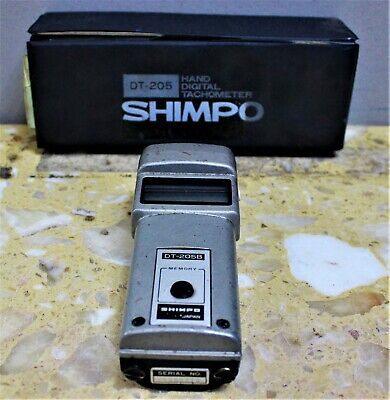 Shimpo Dt-205 Portable Handheld Digital Tachometer