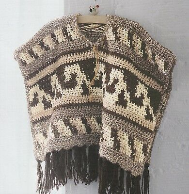 Crochet Pattern ~ Baby Traditional Peruvian Folk Art Poncho ~ (Crochet Pattern Child Poncho)