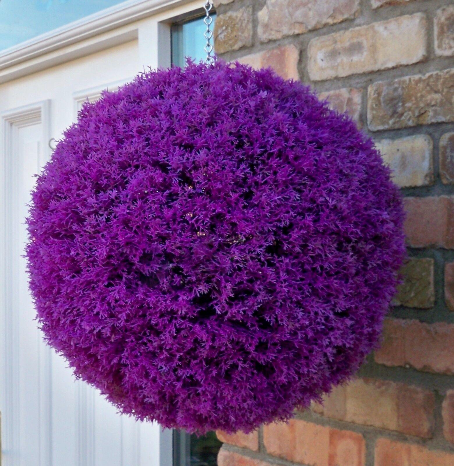 2 best artificial 40cm violet heather topiaire lavande. Black Bedroom Furniture Sets. Home Design Ideas