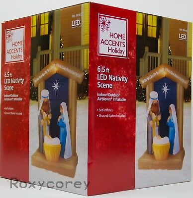 Christmas Home Accents Holiday 6.5 ft LED Nativity with Archway Inflatable (Nativity Inflatable)