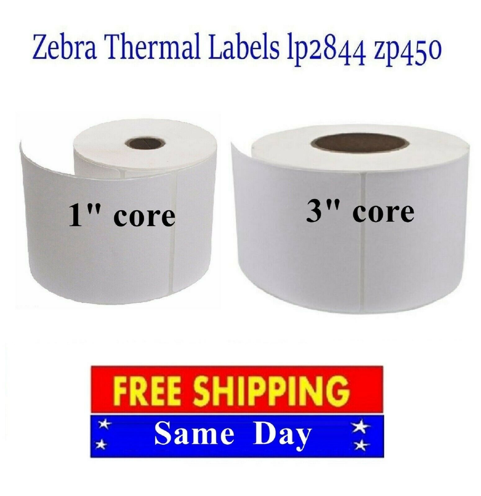 4X6 Direct Thermal Shipping/Barcode Labels for Zebra Eltron