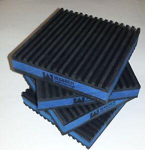 4 PACK ANTI VIBRATION PADS ISOLATION DAMPENER SUPER HEAVY DUTY BLUE 4x4x7/8 MP4E