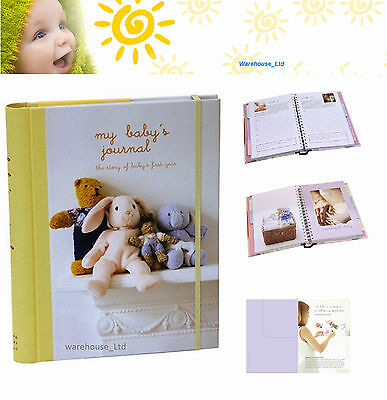 My Baby's Journal Unisex Keepsake Book, Hard Back with DividersBaby Gift
