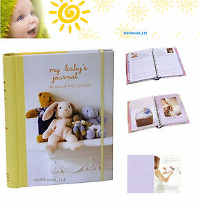 My Baby's Journal Unisex Keepsake Book Yellow, Hard Back with Dividers Baby Gift