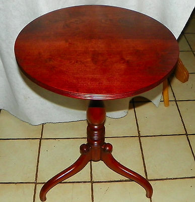 Solid Cherry 2 Board Tilt Top Parlor Table  (T587)