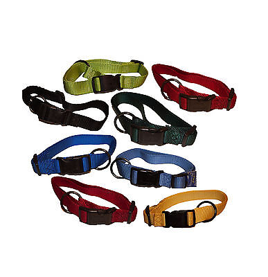 New Nylon Adjustable Pet Collar Double Thick Plastic Buckle Best Fit For