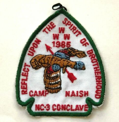 Boy Scouts 1985 Camp Naish Patch WWW Order of the Arrow Flying Bird Spirit New