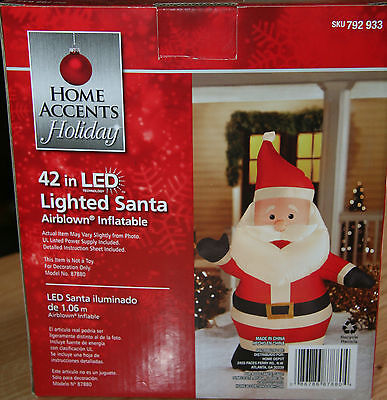 """42"""" Airblown Inflatable Led Lighted Santa Christmas Decoration -"""
