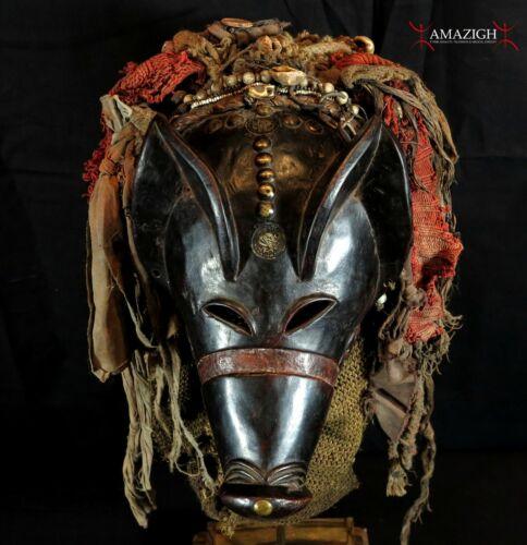 Outstanding Old Chokwe Mask - NGULU - Angola