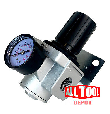 Heavy Duty High Flow 34 In-line Compressed Air Pressure Regulator 160 Cfm