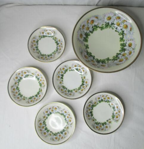 1930s ES Prussia Erdmann Schlegelmilch Serving Bowl Set Daisies Vtg Dining