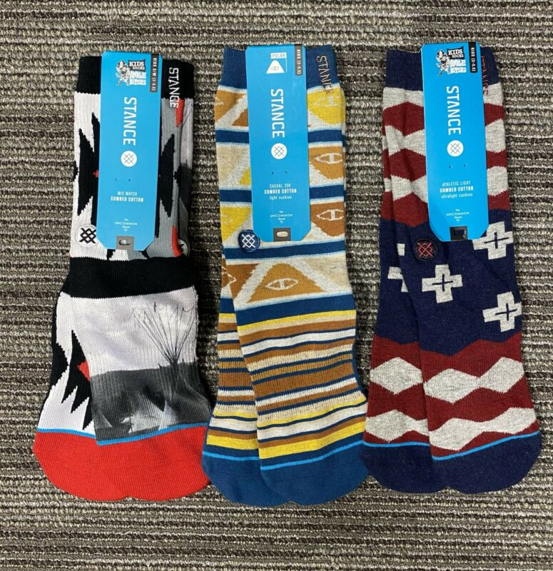 3 Pairs of Stance Little/Big Kids Socks Size 2-5.5