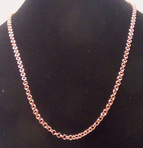 NEW PURE Copper Double Round Chain link 24