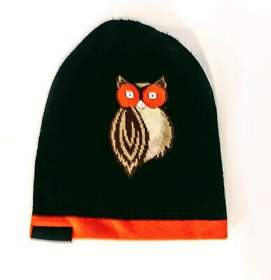 Hooters Beanie Hat scull cap orange and black