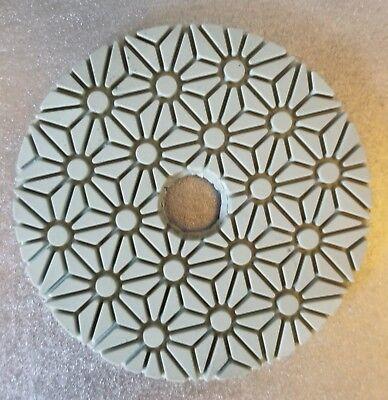 3-step Flowers Diamond Polishing Pads For Quartz Engineered Stone Wet Polishing