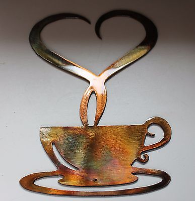 Steamed with Love Coffee Metal Wall Decor 9 3/4