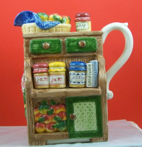 Fitz & Floyd, 1995 Omnibus, canister, pitcher, condiment holder and S & P set