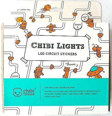 Chibi Lights LED Circuit Stickers STEM Starter Kit Chibitronics >NEW<