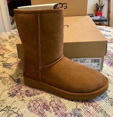 NEW UGG Womens Classic Short II 1016223 Boots, CHESNUT SIZE 7 NIB PERFECT