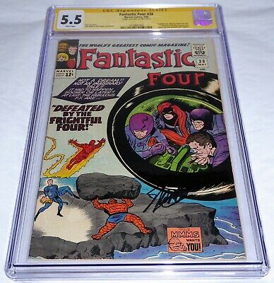 Fantastic Four #38 CGC SS Signature Autograph STAN LEE Frightful Four Trapster