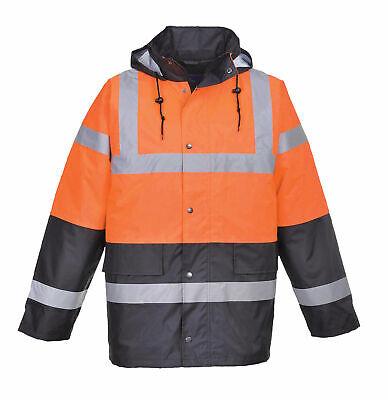 Portwest Us467 Hi-vis Two Tone Reflective Waterproof Traffic Safety Jacket Ansi