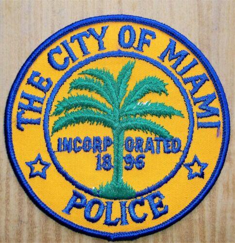 GEMSCO NOS Vintage Patch POLICE MIAMI FL - Original 40+ year old v1 grass