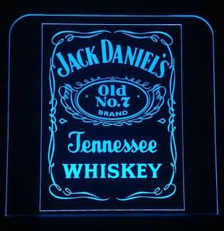 Jack Daniels LED Remote Control Sign,Bar,Mancave,Light