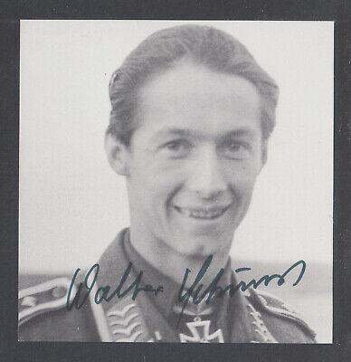 Walter Schuck, German WWII Luftwaffe fighter pilot, Ace, signed 3½x3½ - German Luftwaffe Ace Pilot