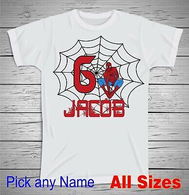 Happy Birthday Spiderman (All Sizes Personalized Spiderman T Shirt Happy Birthday Spiderman T Shirt)