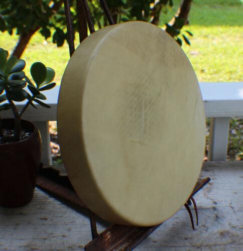 """12"""" Native American Deer hide hand Drum Cherokee made William Lattie Cert Auth"""