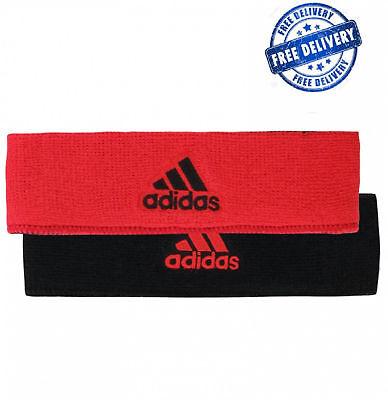 Interval Reversible Headband Adidas Sweatband Mens Tennis Running Cotton Red Bk