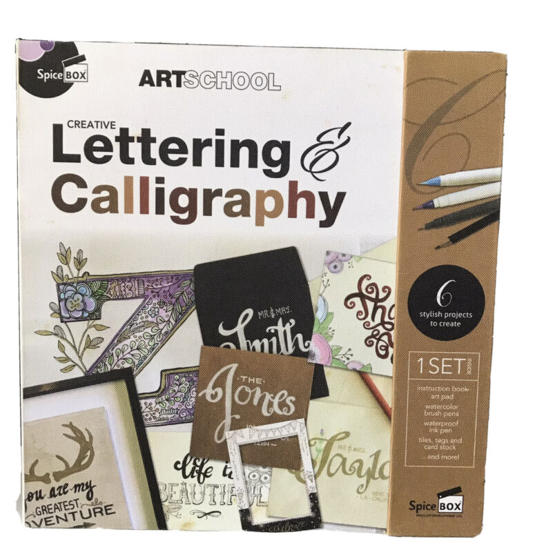 Spice Box Art School Creative Lettering and Calligraphy OPEN BOX