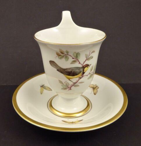 Antique KPM Berlin Chocolate Cup & Saucer, Bird