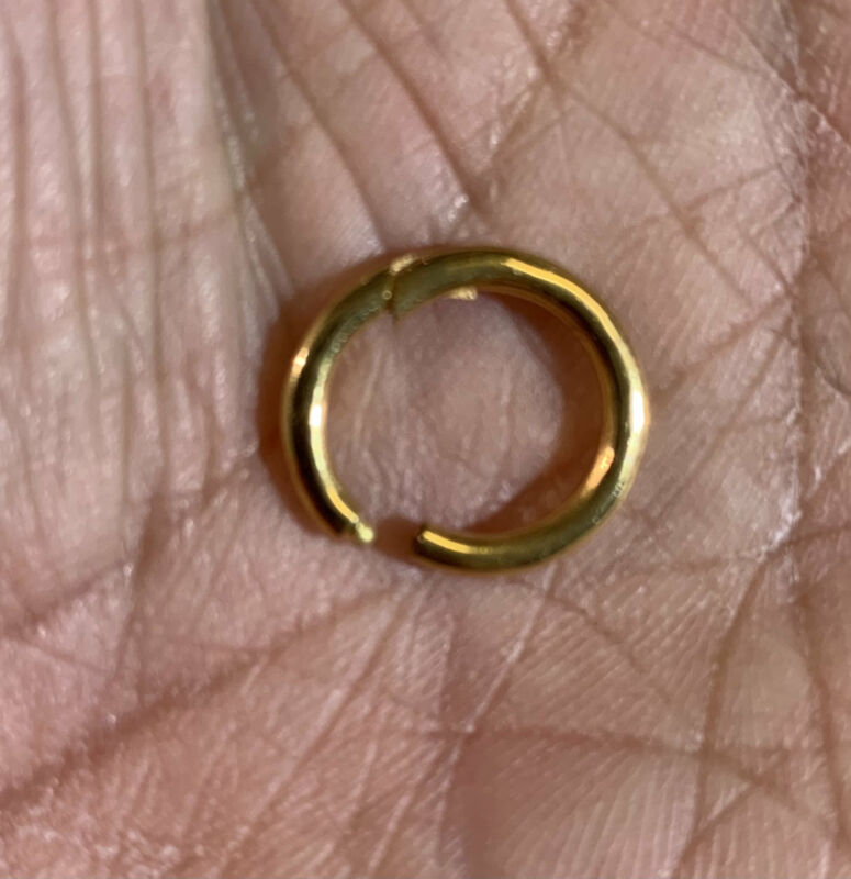 Vermeil sterling silver clasp