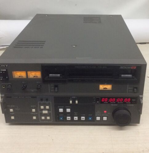 Sony PVW-2650 Videocassette Player BetaCam SP Dolby NR Dynamic Motion Control