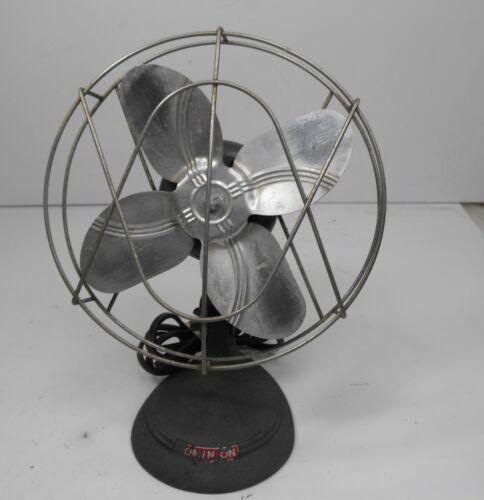 """Vintage DOMINION No.5197 SMALL Desk Fan 11"""" Tall, x 81/2"""" Non-Oscillator Works"""